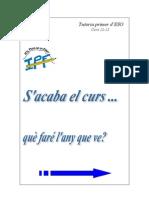 QUÈ FARÉ L'ANY QUE VÉ 1R ESO CURS 12-13