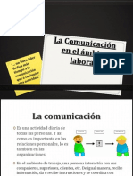 La Comunicación en el ámbito laboral
