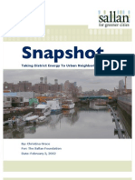 Taking District Energy To Urban Neighborhoods | Snapshot | The Sallan Foundation