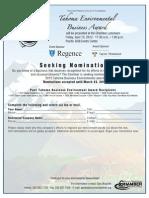 Environment Award 2012 Flyer