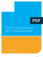 How to Avoid Common Part P Assessment Issues