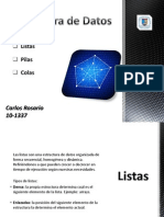 Listas Pilas Colas CarlosRosario10-1337