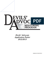 Advocate Complete Application Packet 2012-2013
