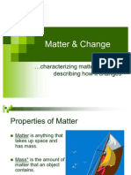 Matter & Change Notes