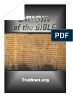 Origin of the Bible