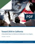 Toward 2050 in California