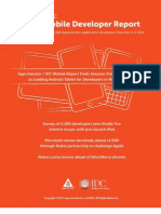 Appcelerator IDC Q4 2011 Mobile Developer Report
