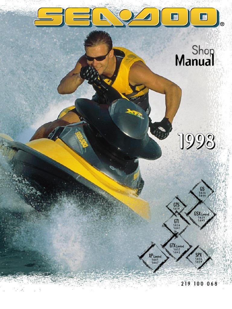 1998 sea doo service manual 2 carburetor motor oil rh scribd com