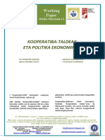 KOOPERATIBA-TALDEAK ETA POLITIKA EKONOMIKOA (Eus) CO-OPERATIVE GROUPS AND ECONOMIC POLICY (Basque) GRUPOS COOPERATIVOS Y POLÍTICA ECONÓMICA (Eus)