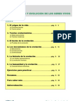 ORIGEN Y EVOLUCIÓN DE LOS SERES VIVOS(GENERAL)