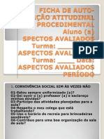 FICHA DE AUTO-AVALIAÇÃO ATITUDINAL E PROCEDIMENTAL