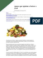 Frutos e Legumes que ajudam a baixar a pressão arterial