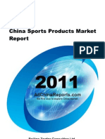 China Sports Products Market Report