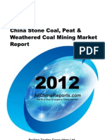 China Stone Coal Peat Weathered Coal Mining Market Report