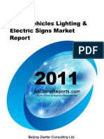 China Vehicles Lighting Electric Signs Market Report