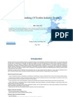 China Finishing of Textiles Industry Profile Isic1712
