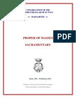 Roman Missal for Celebrations Proper to the Clerics Regular of St. Paul - Barnabites