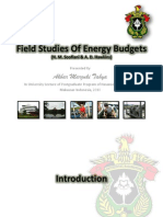 Field Studies of Energy Budgets