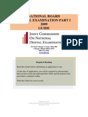 NBDE I Guide | Dental Degree | Identity Document