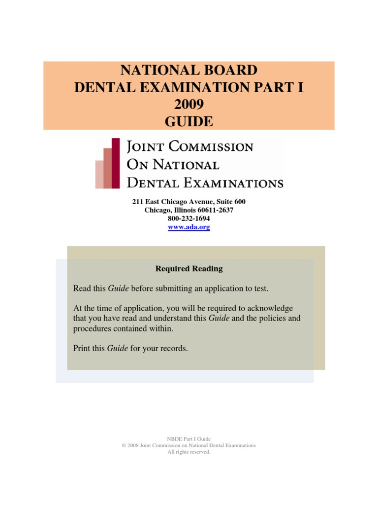 NBDE I Guide | Dental Degree | Identity Document