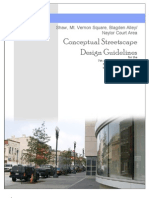 Conceptual Streetscape Design Guidelines for the 7th and 9th Street Corridors From Mt. Vernon Square to Rhode Island Avenue
