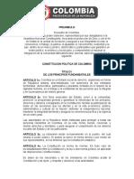 CONSTITUCIÓN POLÍTICA COLOMBIA 1991 ACTUALIZADA