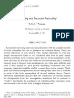 1 Bounded Rationality - Aumann