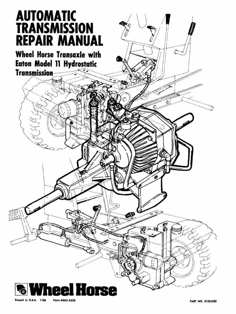 Eaton-11 Wheel Horse Automatic Transmission Service Manual
