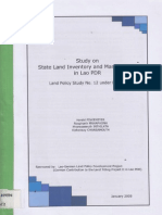 Study on State Land Inventory and Monagent in Lao PDR Land Policy Study No.12 Under LLTP II