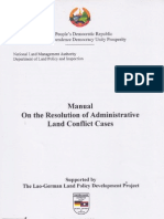 Manual on the Resolution of Administrative Land Conflict Cases
