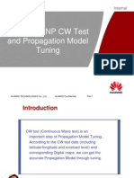 02 WCDMA RNP CW Test and Propagation Model Tuning