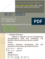 Sistem Persamaan Linear Dua Variabel Spldv