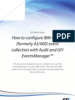 How to configure IBM iSeries event collection with Audit and GFI EventsManager: