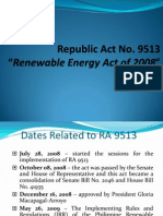 Clean Water Act and Renewable Energy Act