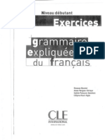 Grammaire Expliquee Du Francais - Niveau Debutant Exercices