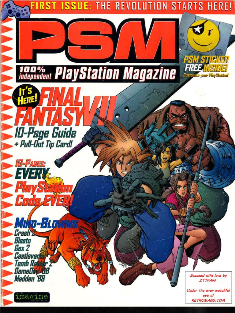playstation magazine issue 1 psm