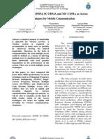 Comparison of OFDM, SC-FDMA and MC-CDMA as Access