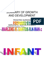 Summary of Infant Growth and Development