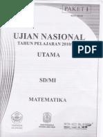 Soal Un Math 2010-2011