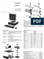 Illustrated Parts Service Map - HP Compaq Dc7800 Small Form Factor Business PC