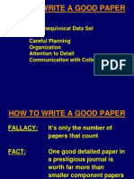 Write Good Paper