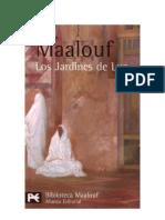 Amin Maalouf - Los Jardines de Luz, (Novela Historic A)