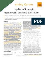 ADB's Long-Term Strategic Framework - Lessons 2001-2006