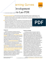 Capacity Development Assistance to Lao PDR