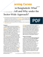 Education in Bangladesh - What Worked Well and Why Under the Sector Wide Approach