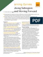 Greater Mekong Subregion - Maturing and Moving Forward