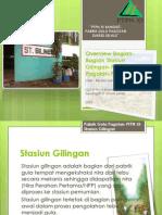 Overview Bagian-Bagian Stasiun Giling-Pabrik Gula Pagotan-PTPN XI - Revisi