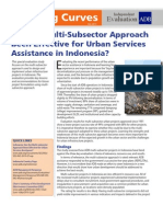 Has the Multi Sub Sector Approach Been Effective for Urban Services Assistance in Indonesia