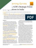 Improving ADB's Strategic Focus and Operations in India