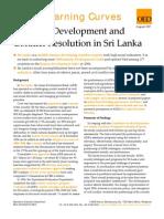 Inclusive Development and Conflict Resolution in Sri Lanka